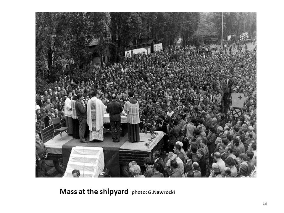 Mass at the shipyard photo: G.Nawrocki 18