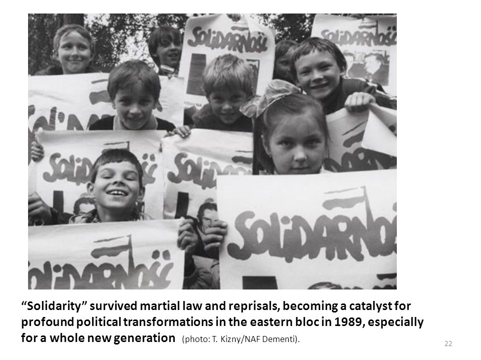 Solidarity survived martial law and reprisals, becoming a catalyst for profound political transformations in the eastern bloc in 1989, especially for a whole new generation (photo: T.