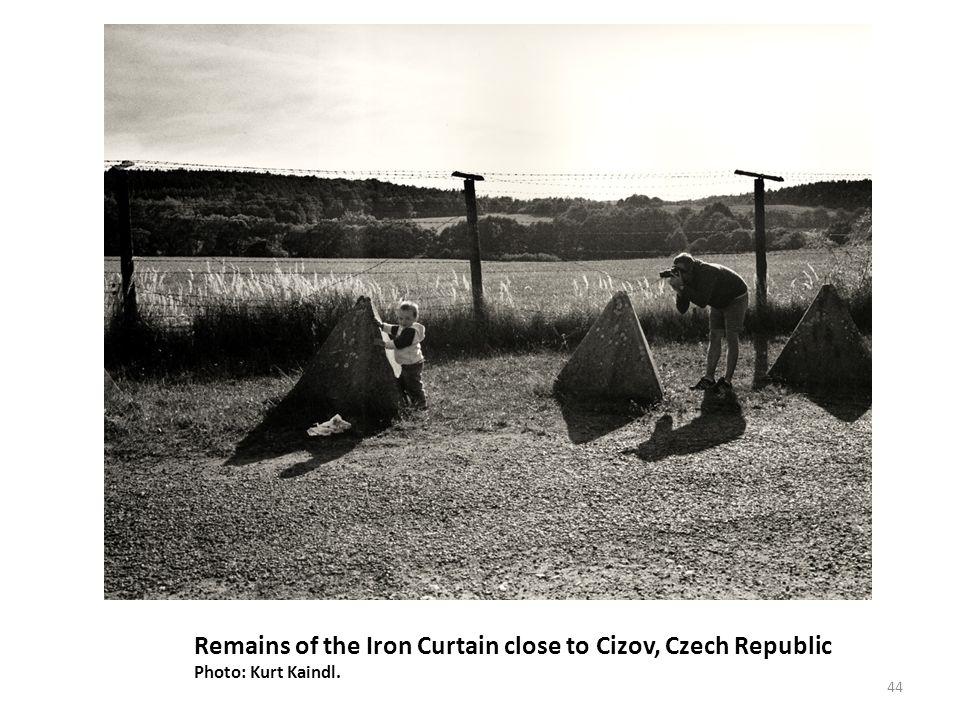 Remains of the Iron Curtain close to Cizov, Czech Republic Photo: Kurt Kaindl. 44