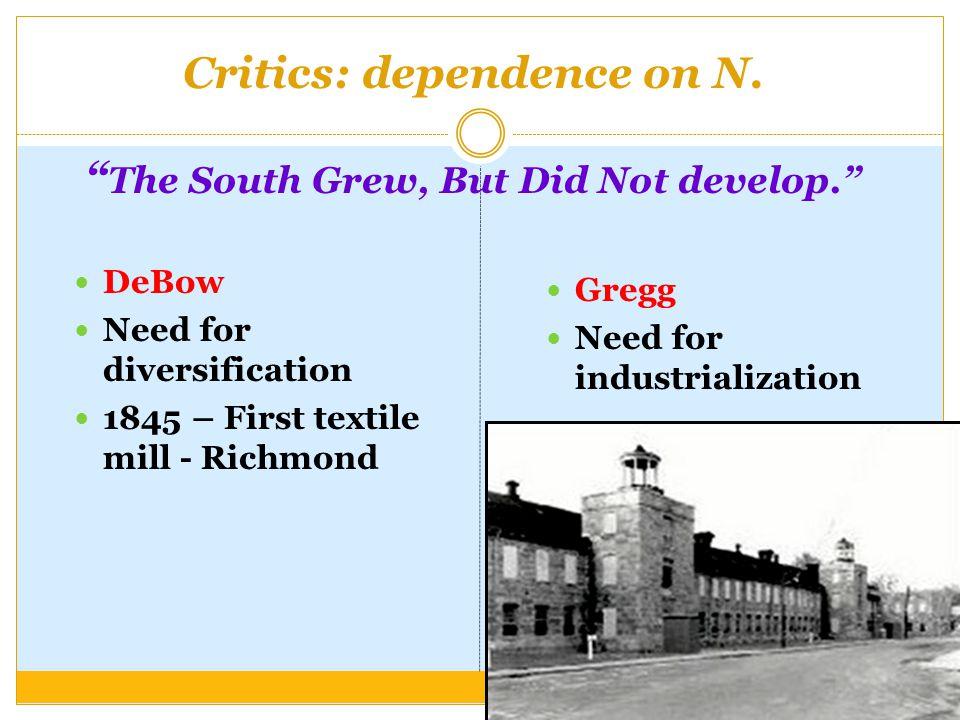 Critics: dependence on N.