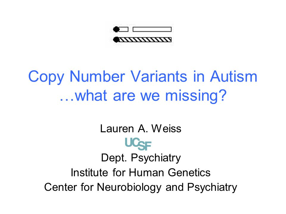 Copy Number Variants in Autism …what are we missing.