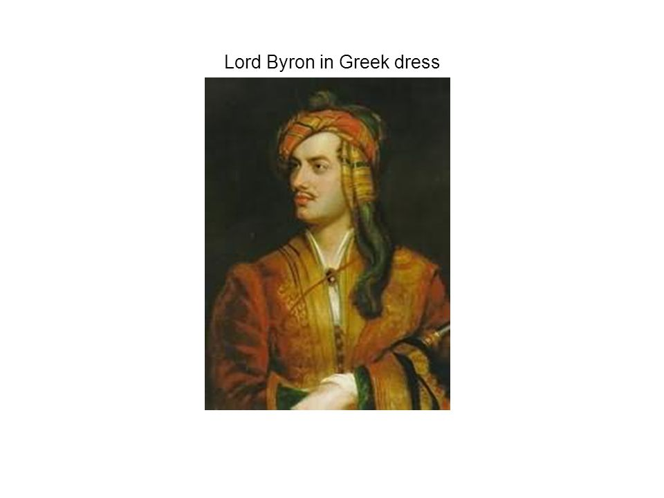 Lord Byron in Greek dress