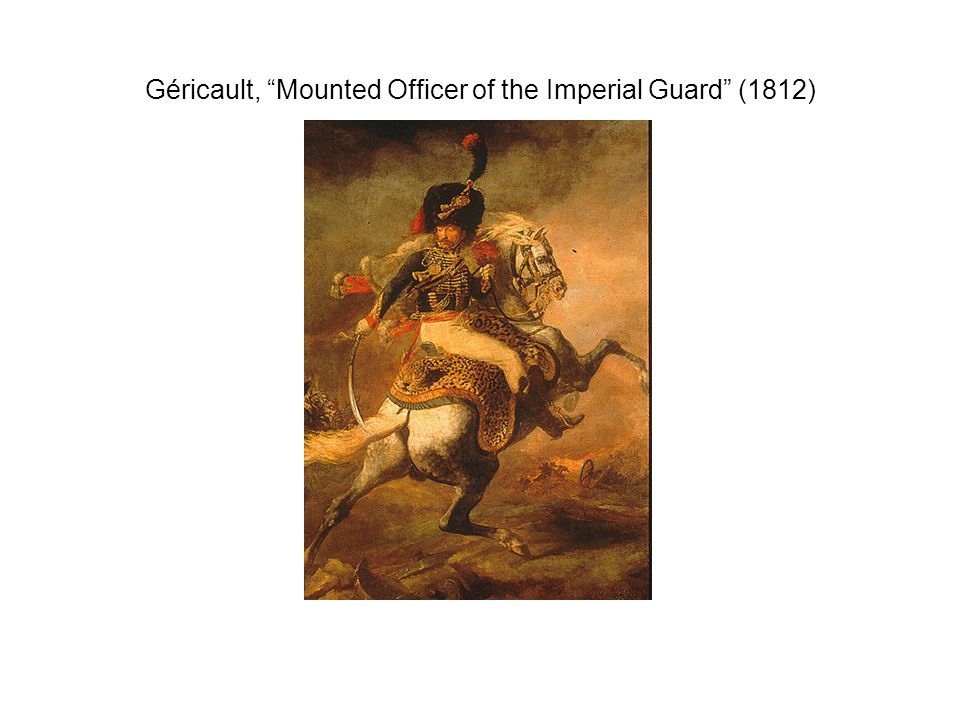 Géricault, Mounted Officer of the Imperial Guard (1812)