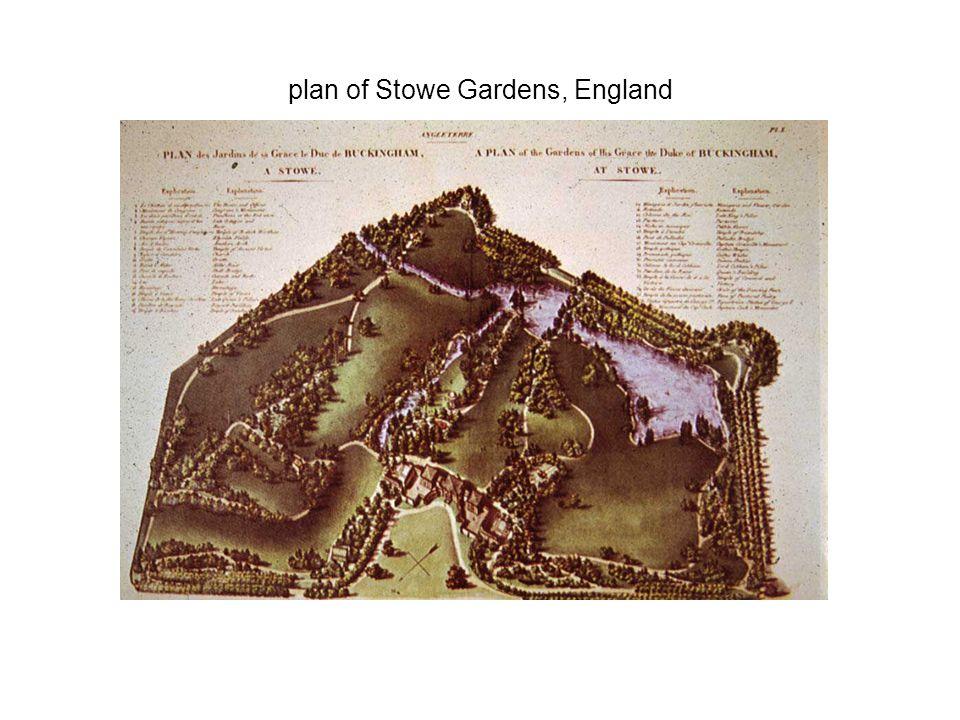 plan of Stowe Gardens, England