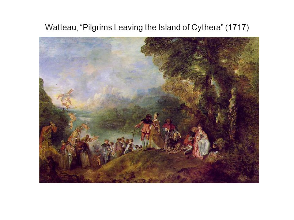 Watteau, Pilgrims Leaving the Island of Cythera (1717)