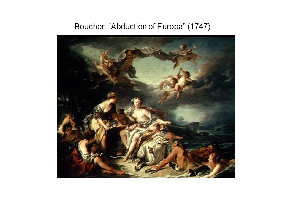 Boucher, Abduction of Europa (1747)