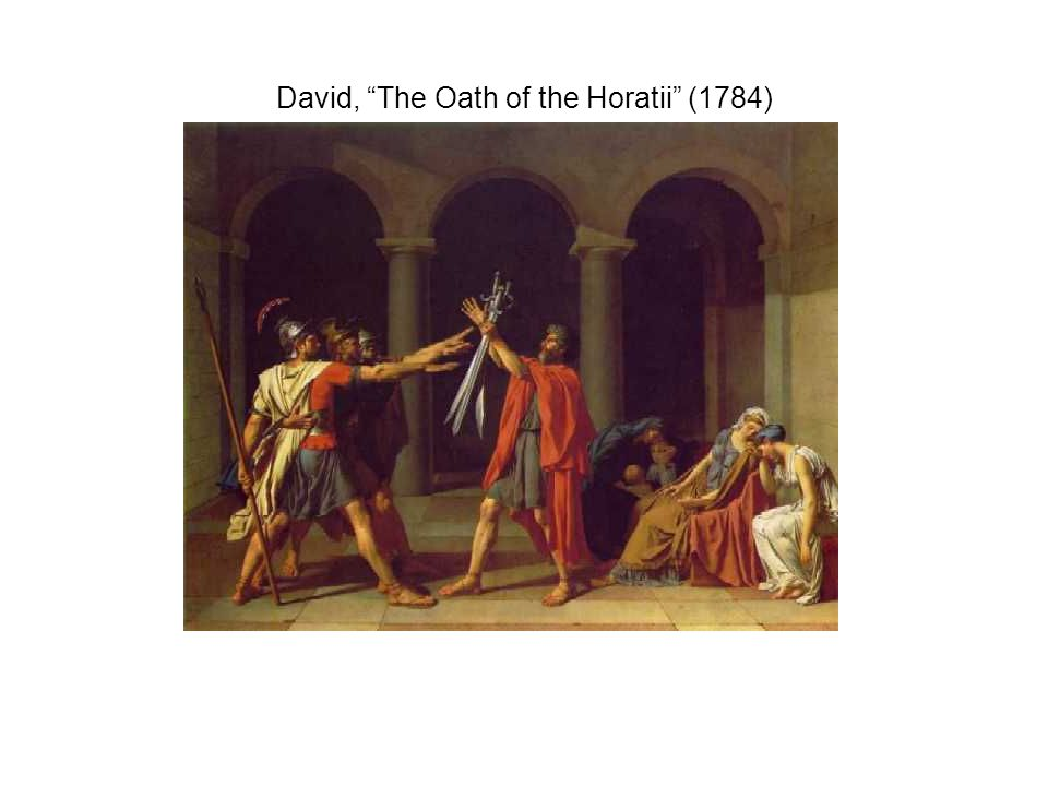 """David, """"The Oath of the Horatii"""" (1784)"""