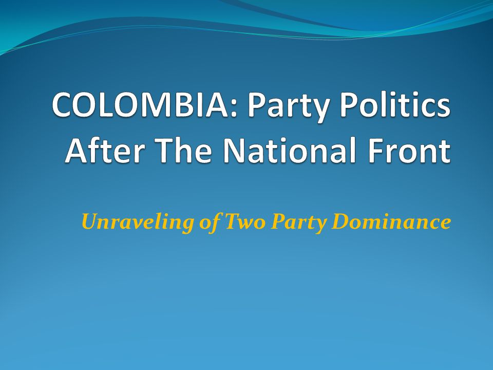 Unraveling of Two Party Dominance