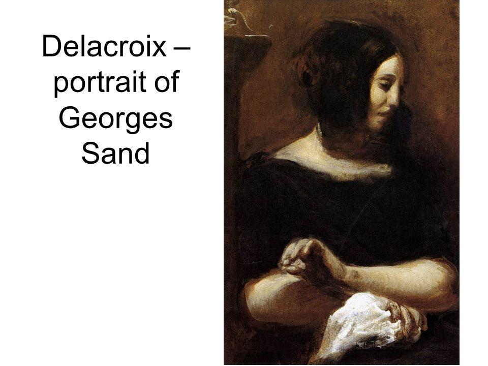 Delacroix – portrait of Georges Sand