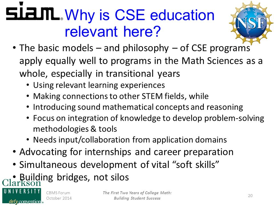 Why is CSE education relevant here.