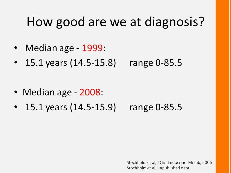 Prevalence of TS – closing the gap Stochholm et al, J Clin Endocrinol Metab, 2006
