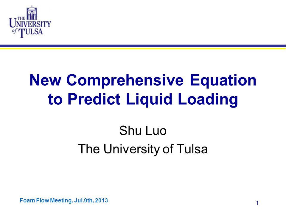 Foam Flow Meeting, Jul.9th, 2013 62 Zhang et al.'s Model Results ConocoPhillips Data