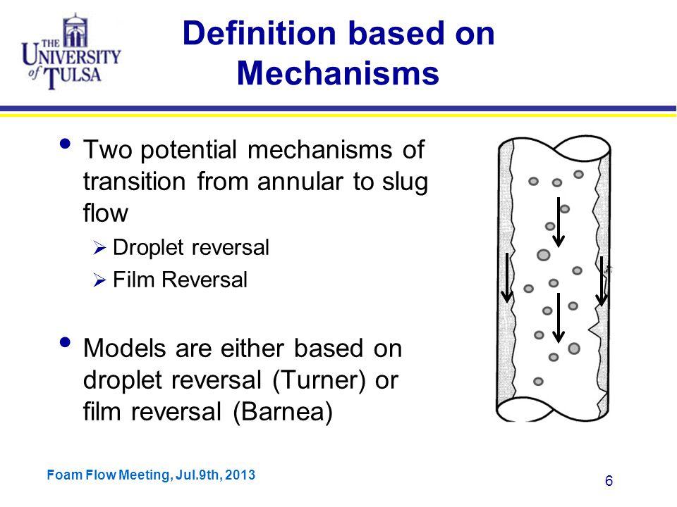 Foam Flow Meeting, Jul.9th, 2013 47 Barnea's Model Results Coleman's Data