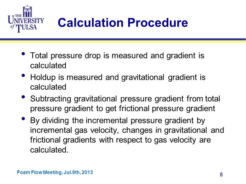 Foam Flow Meeting, Jul.9th, 2013 9 Magnitude of Gravitational vs.