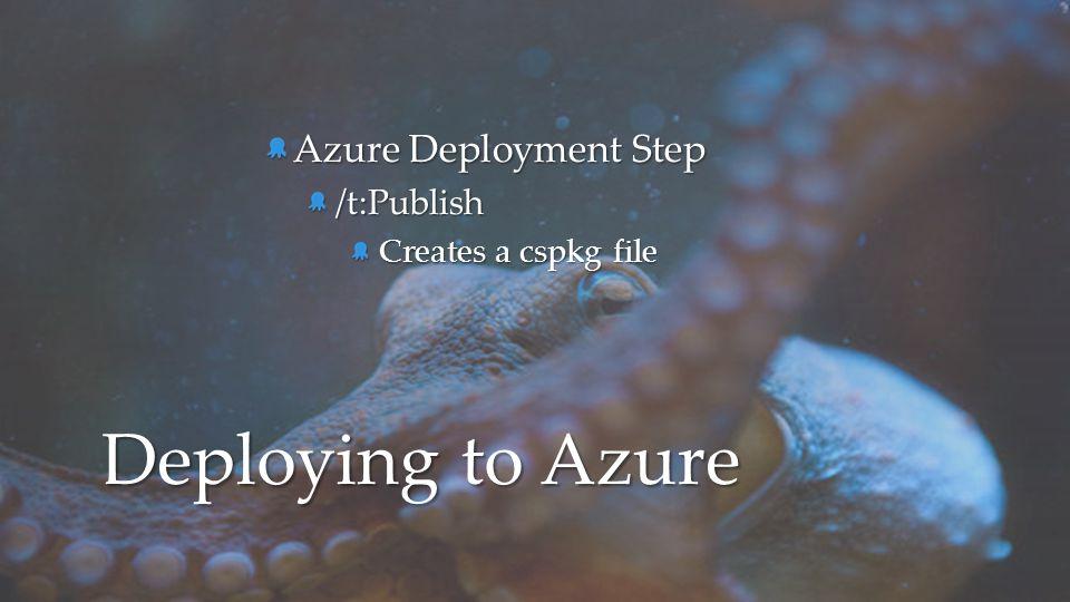 Azure Deployment Step /t:Publish Creates a cspkg file Deploying to Azure