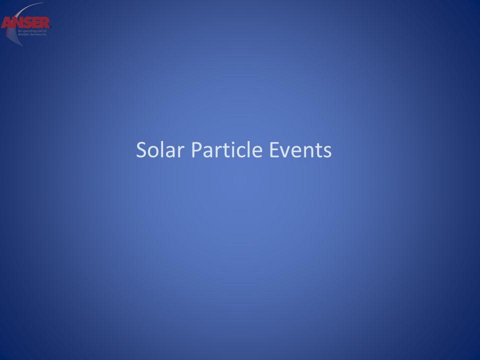 Solar Particle Events