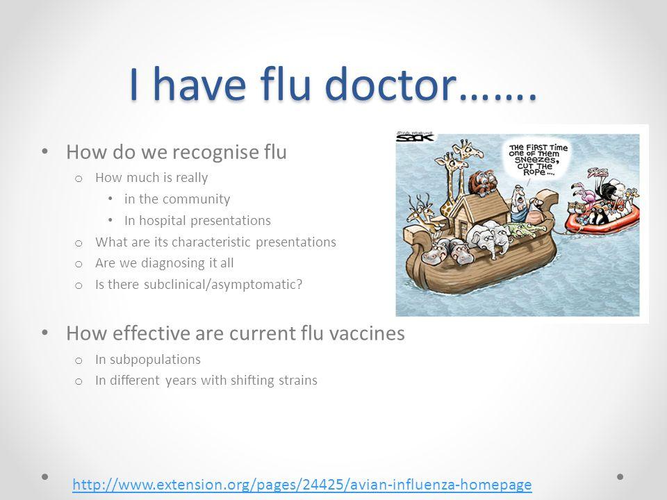 I have flu doctor…….