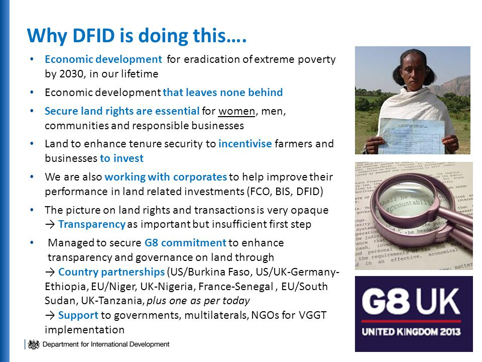 Why DFID is doing this….