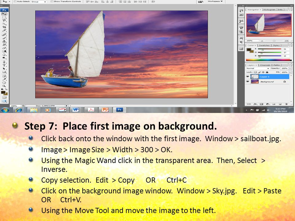 Step 8: Create a Reflection for the Image Add a new layer.