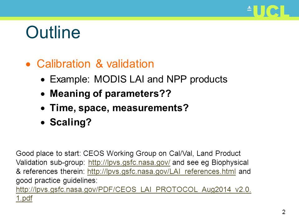 23 MODIS-estimated v BigFoot FPAR Turner et al.(2005) How do you measure FPAR even on the ground?.
