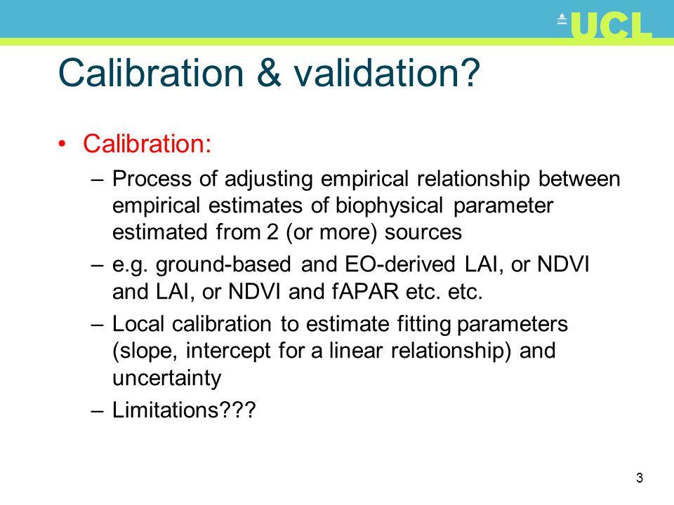 3 Calibration & validation.