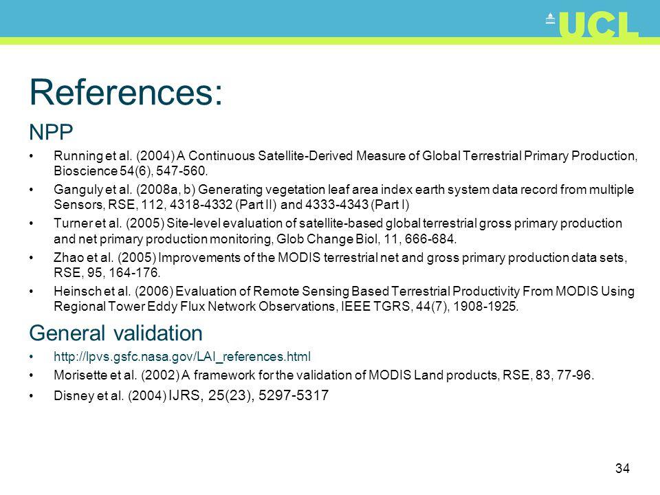 34 References: NPP Running et al.