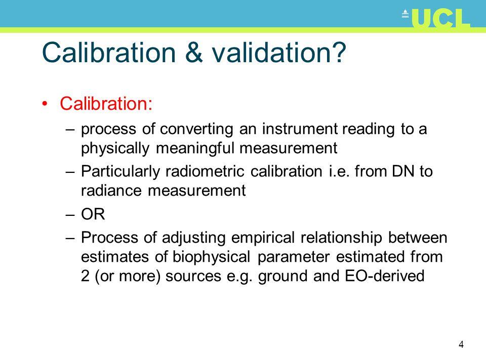 5 Calibration & validation.