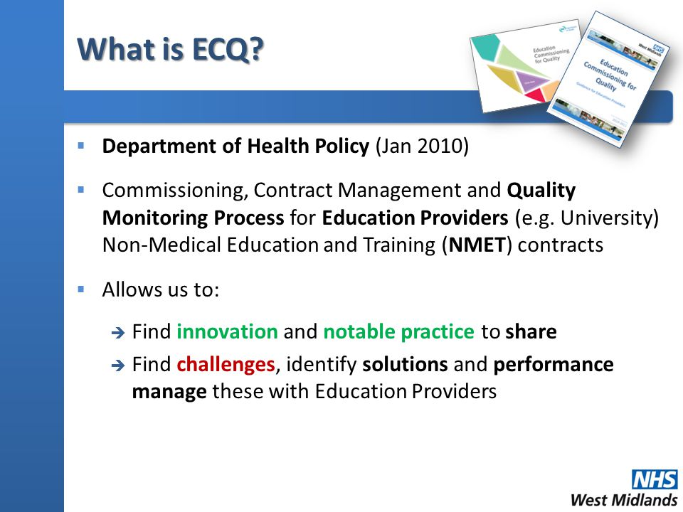 What makes ECQ Different.