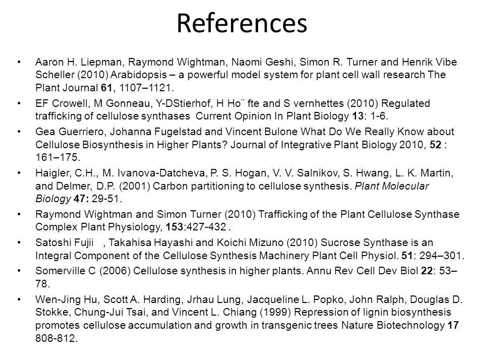 References Aaron H. Liepman, Raymond Wightman, Naomi Geshi, Simon R.