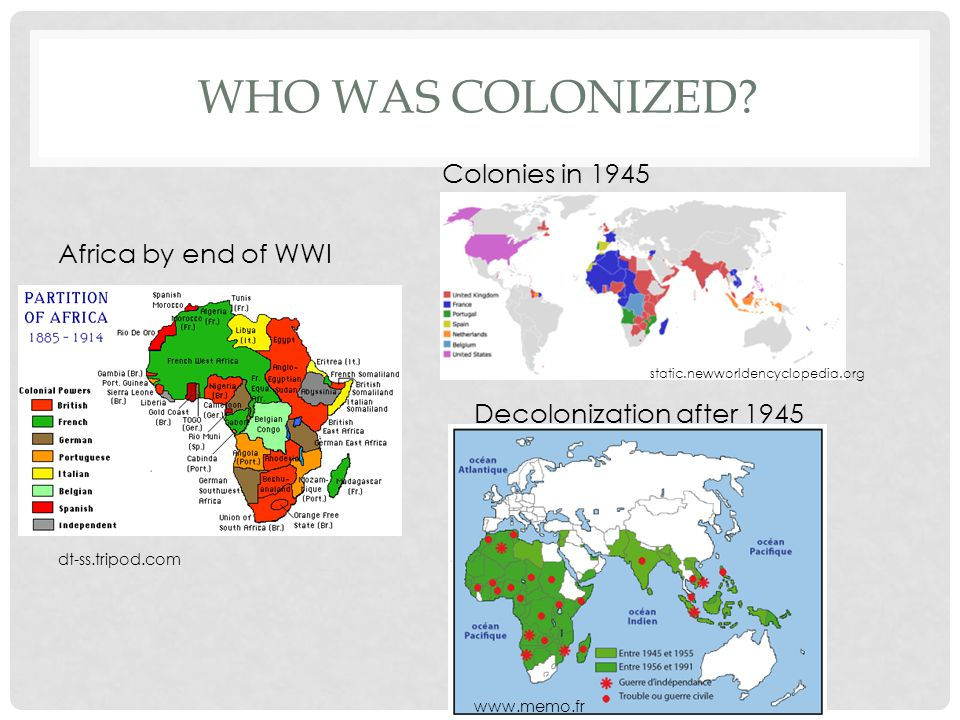 WHO WAS COLONIZED.