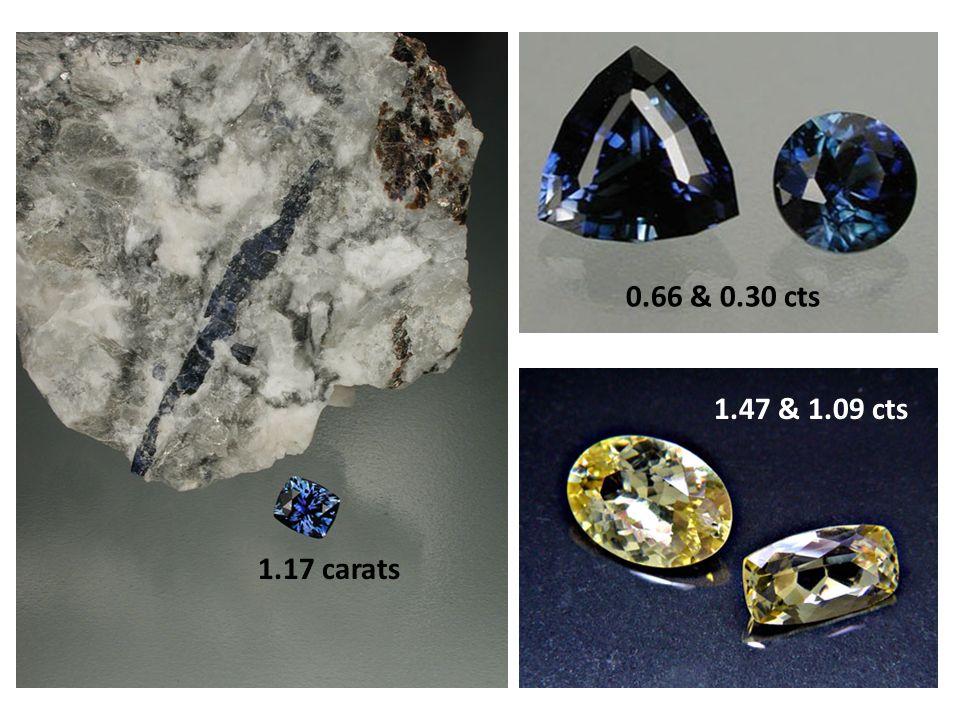 1.17 carats 0.66 & 0.30 cts 1.47 & 1.09 cts