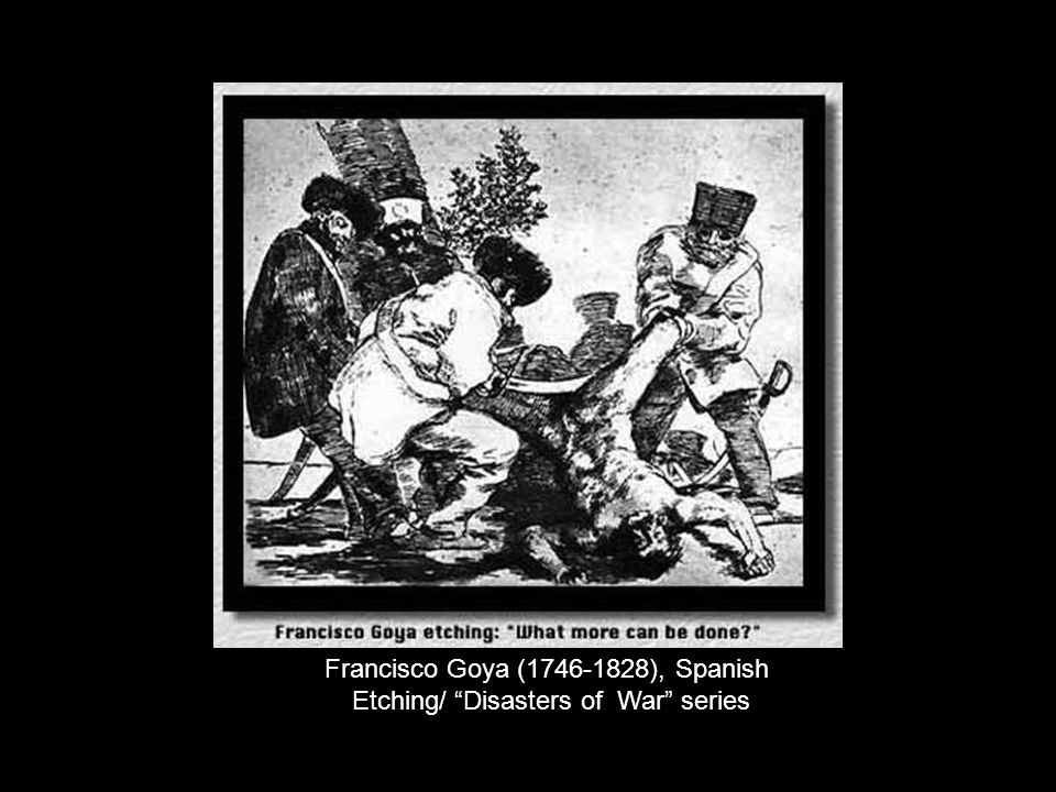 Francisco Goya (1746-1828), Spanish Etching/ Disasters of War series