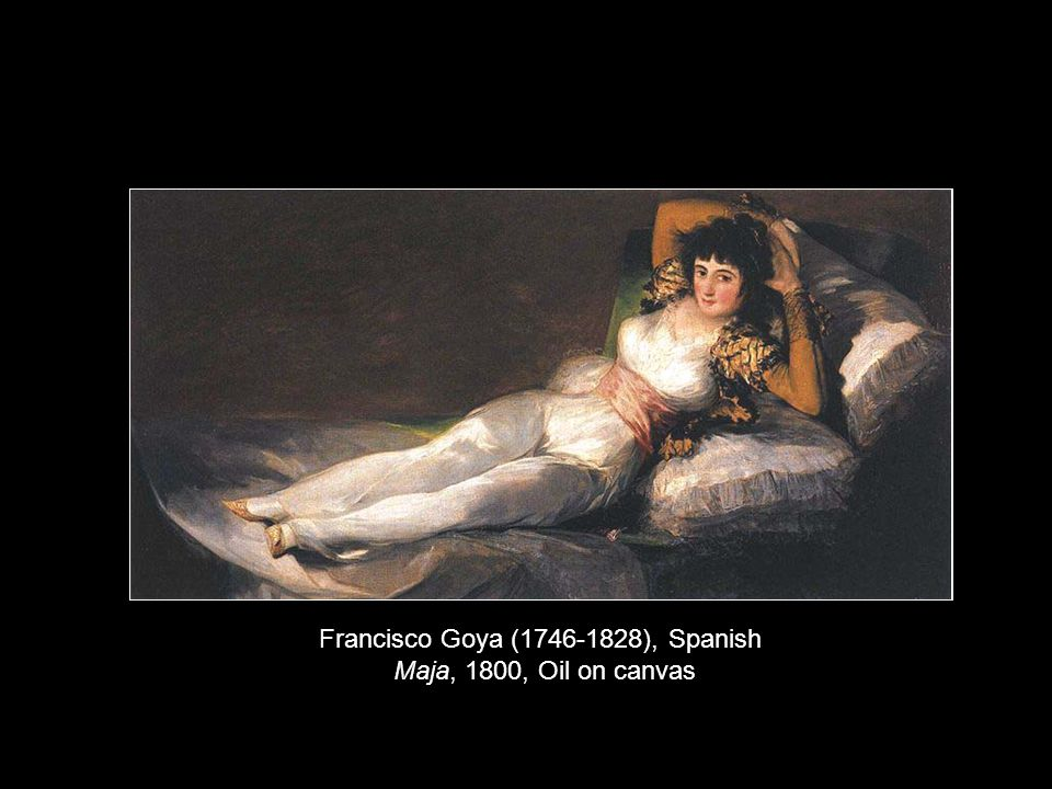 Francisco Goya (1746-1828), Spanish Maja, 1800, Oil on canvas