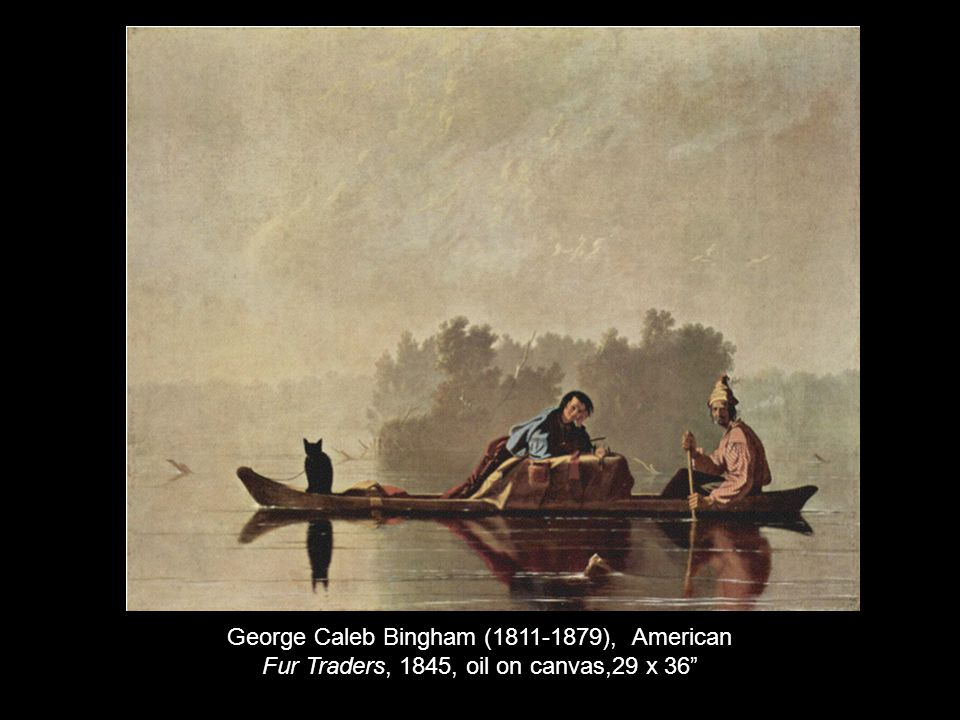 George Caleb Bingham (1811-1879), American Fur Traders, 1845, oil on canvas,29 x 36