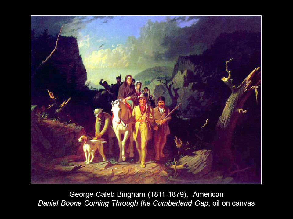 George Caleb Bingham (1811-1879), American Daniel Boone Coming Through the Cumberland Gap, oil on canvas
