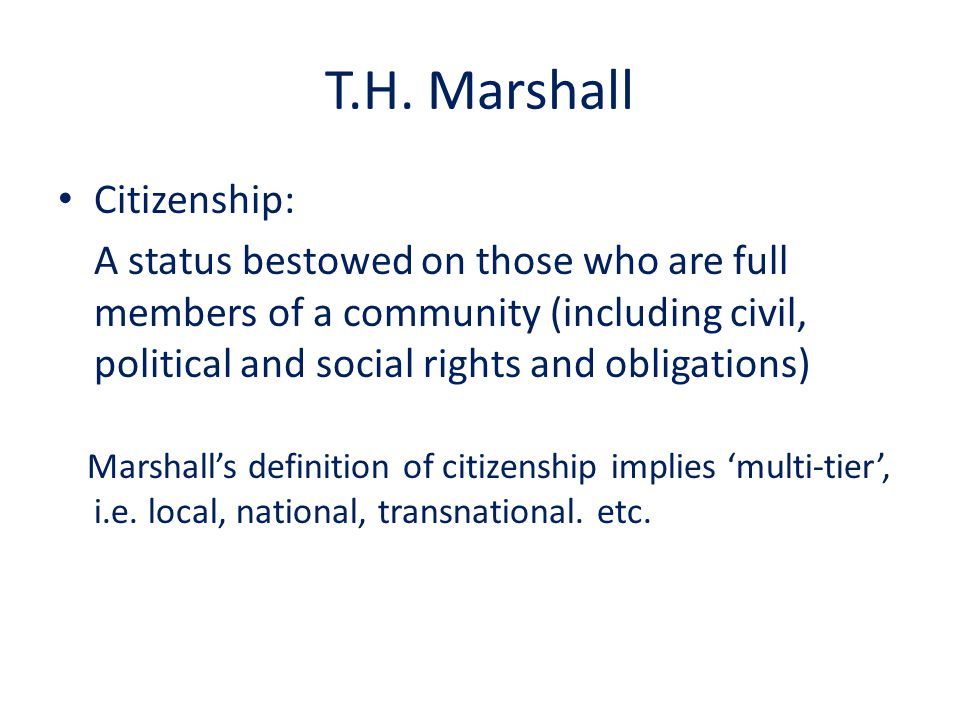 What is Citizenship.T. H.