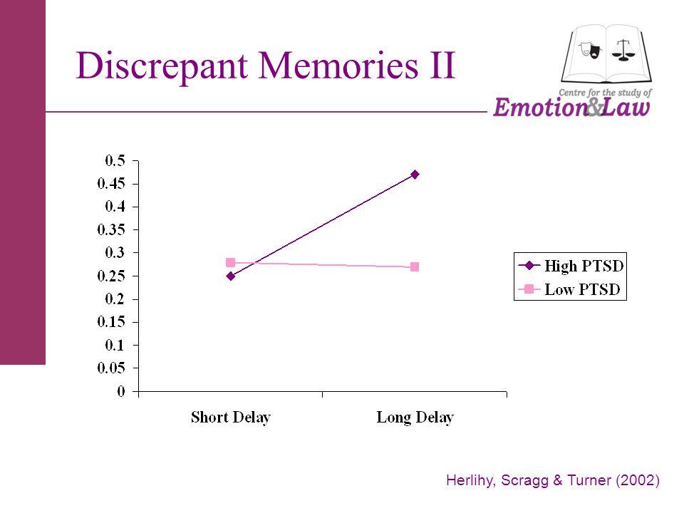 Discrepant Memories II Herlihy, Scragg & Turner (2002)