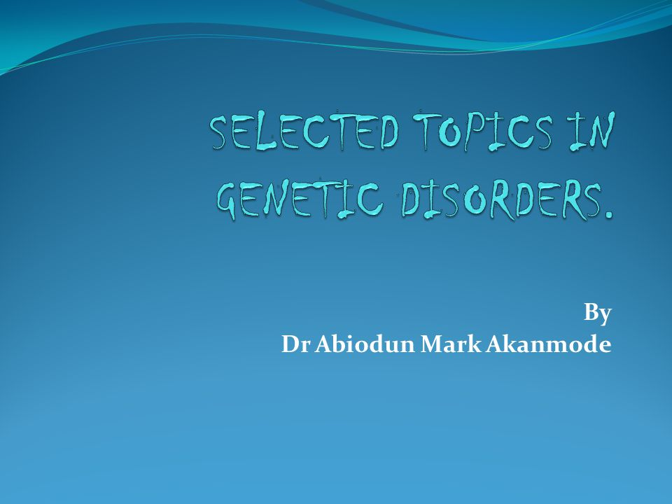 By Dr Abiodun Mark Akanmode