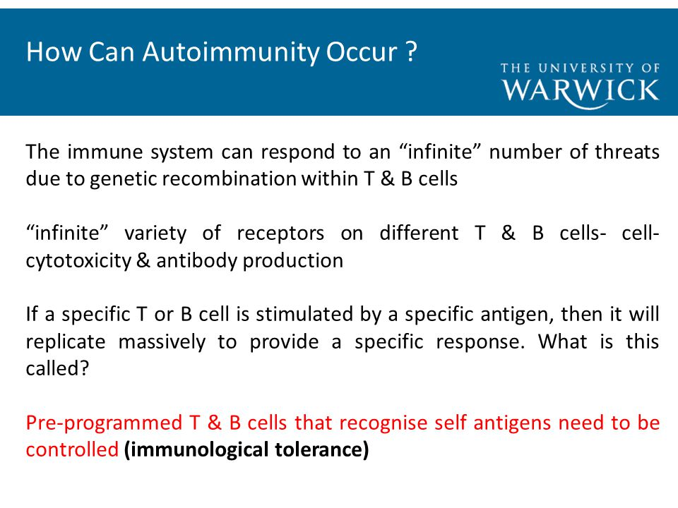 How Can Autoimmunity Occur .