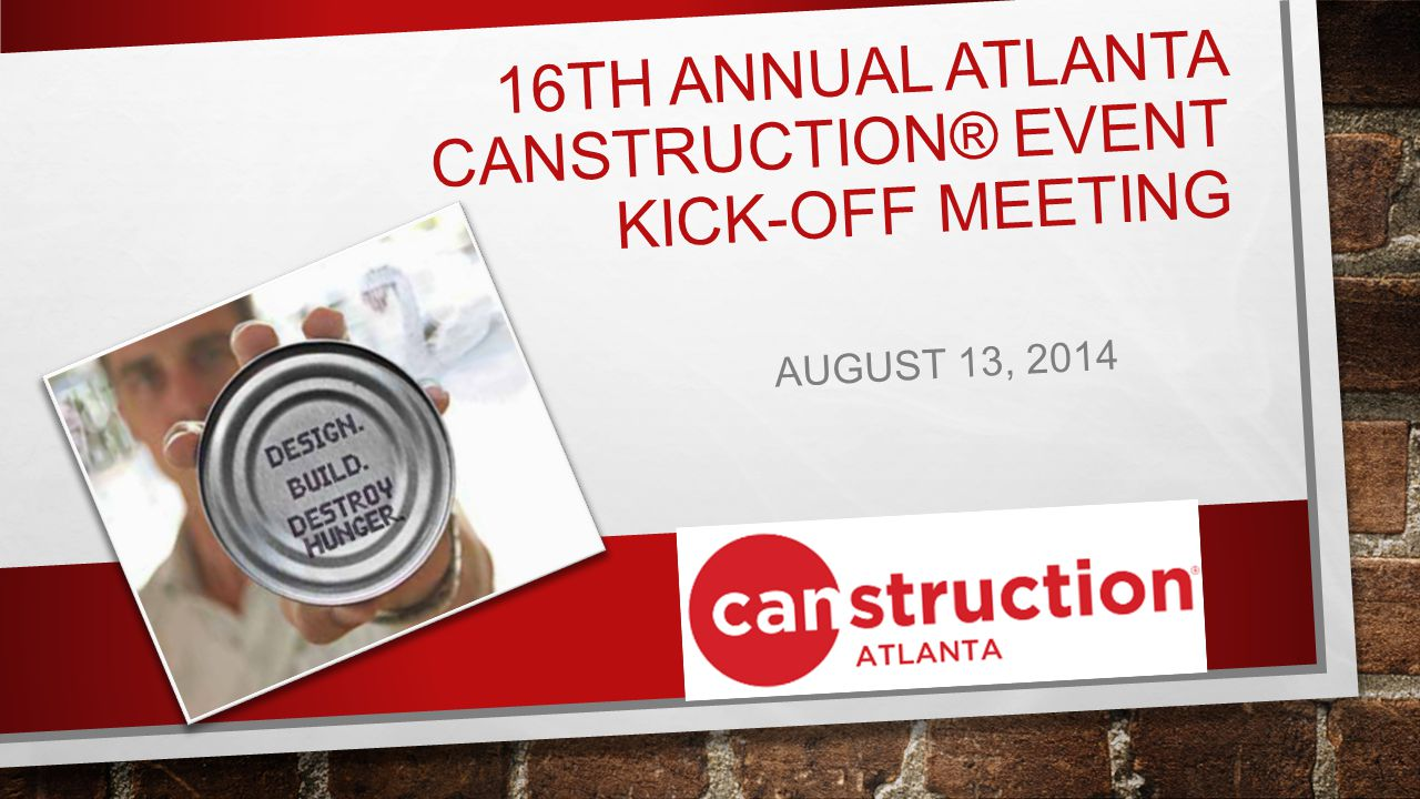 AGENDA IT STARTS WITH ONE CAN.TO FEED THE HUNGRY.