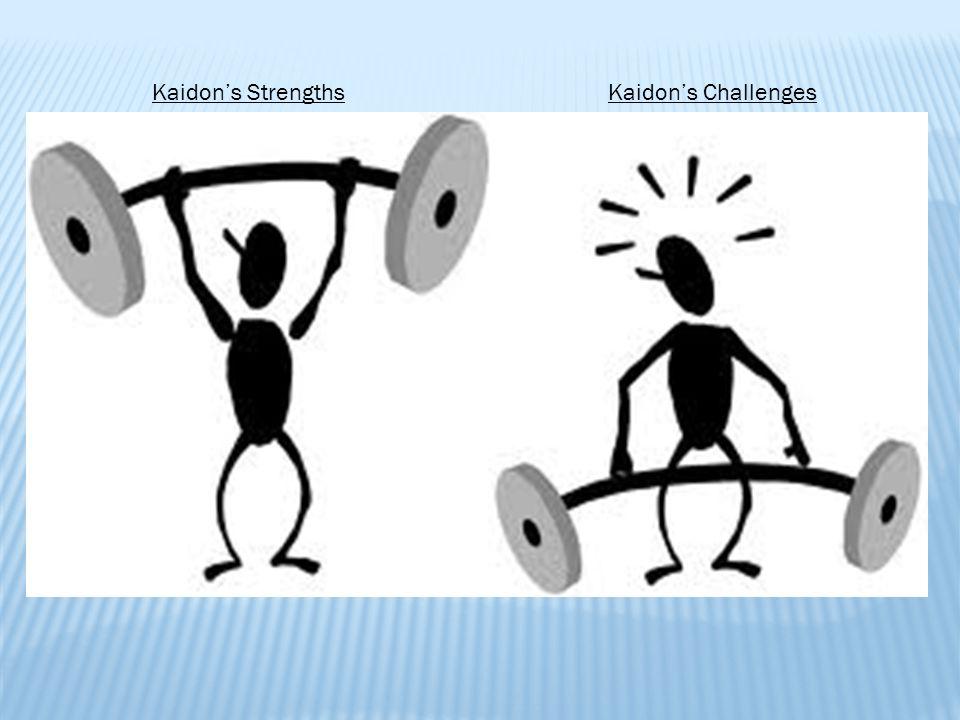 Kaidon's StrengthsKaidon's Challenges