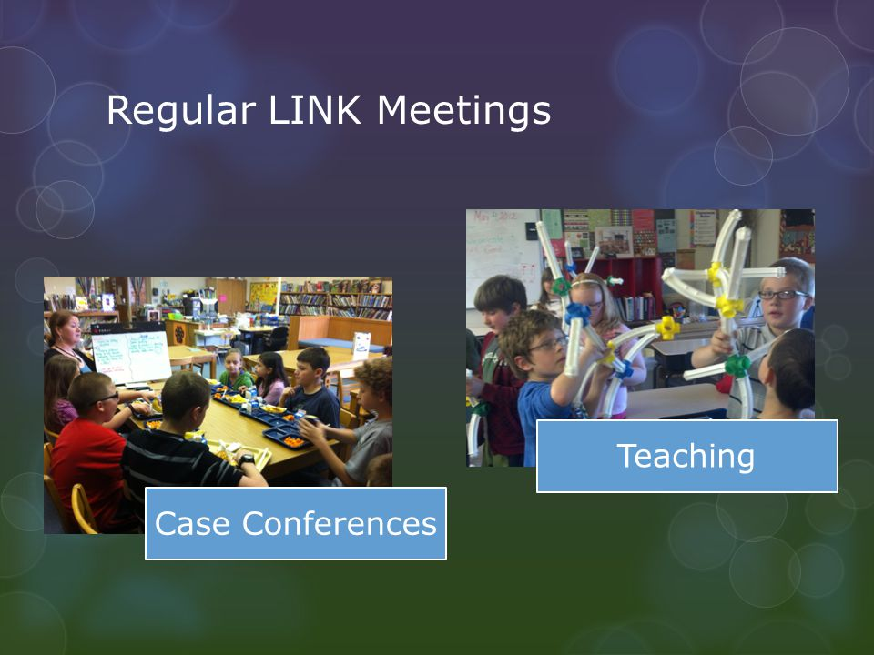 Regular LINK Meetings Case Conferences Teaching