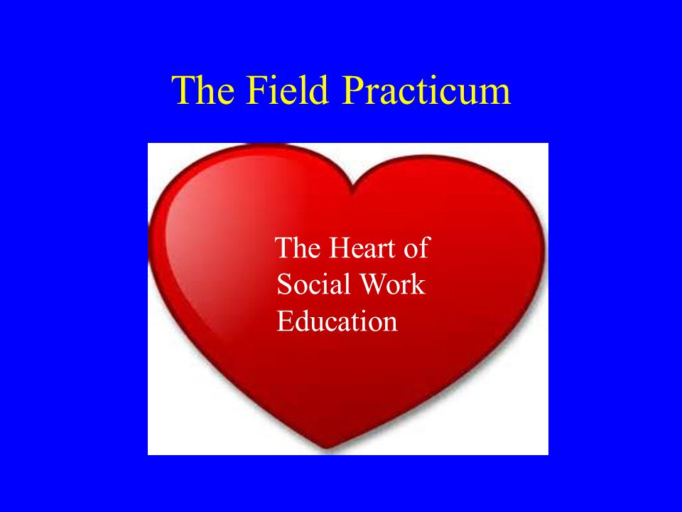 The Field Practicum The Heart of Social Work Education