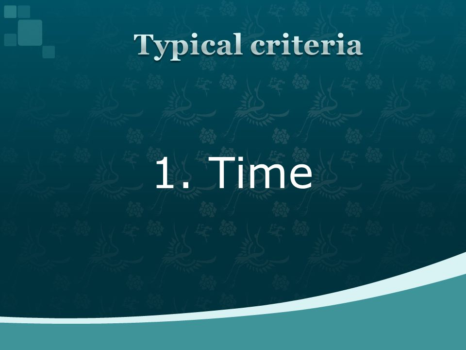 1. Time