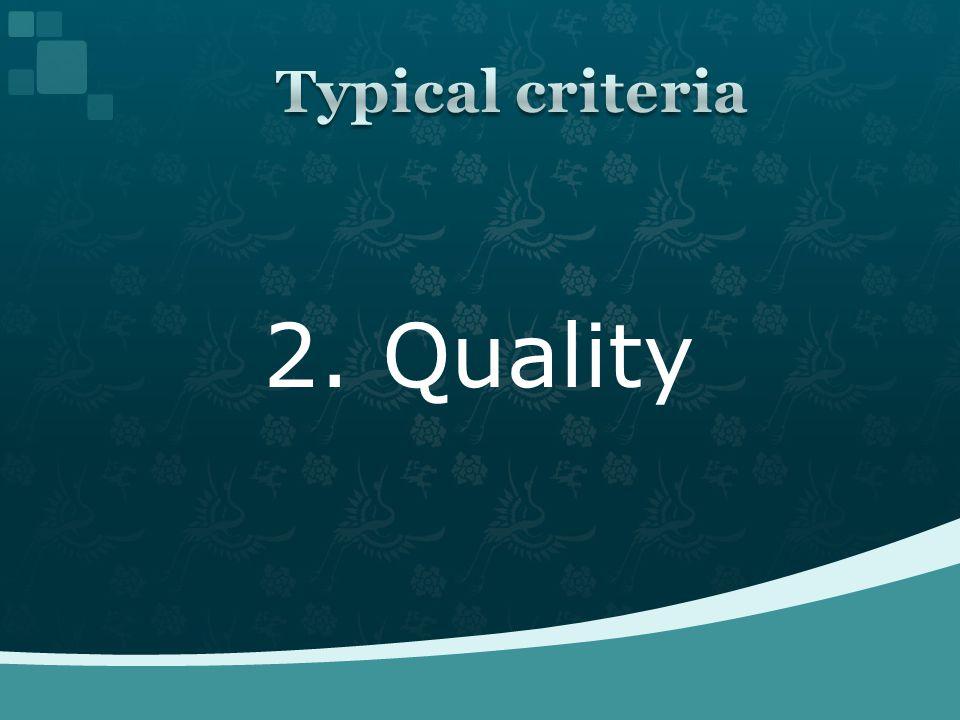 2. Quality