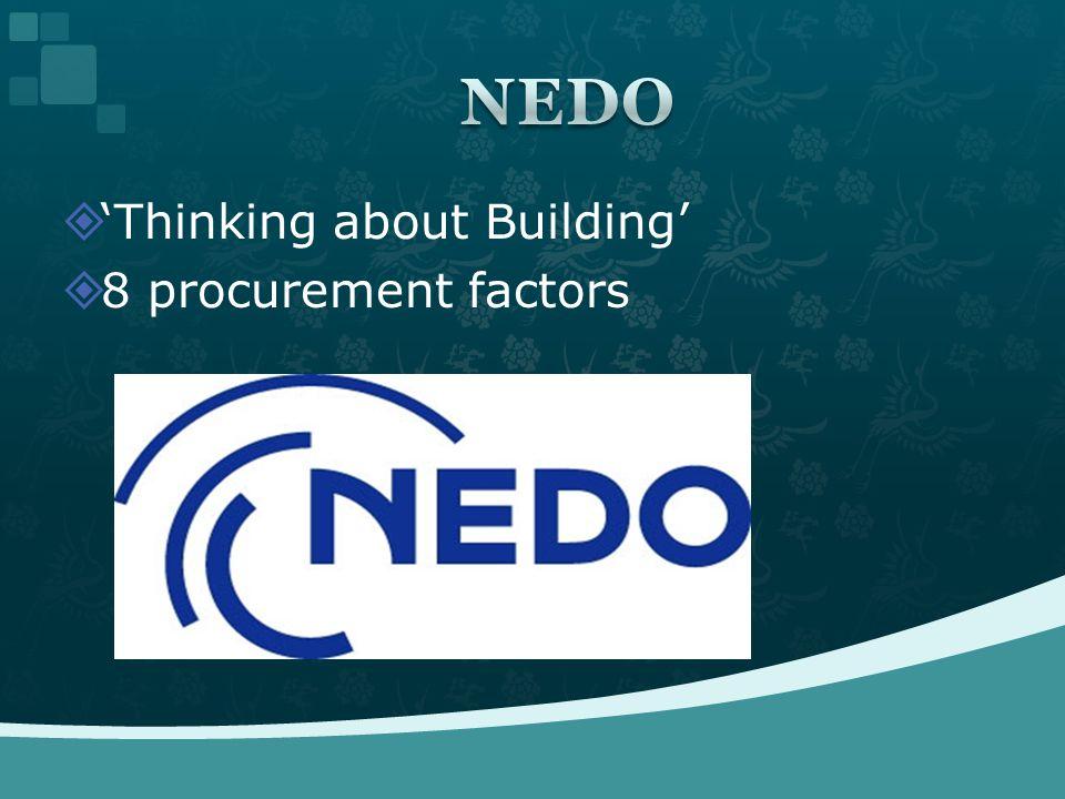  'Thinking about Building'  8 procurement factors