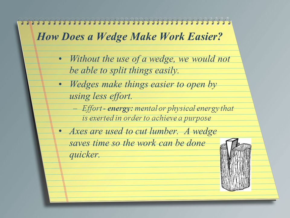 How Does a Wedge Make Work Easier.