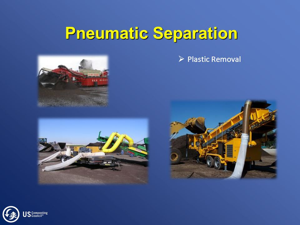 Pneumatic Separation  Plastic Removal