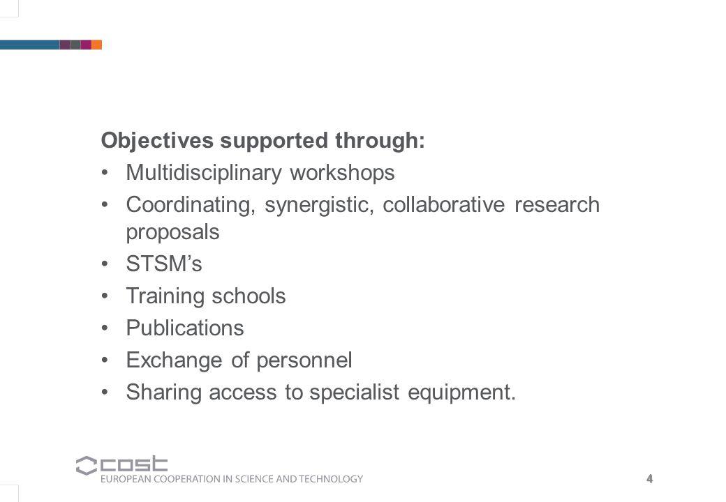 5 Areas of focus Coordination of multidisciplinary proposals.