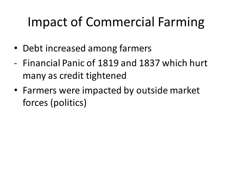 Old Southwest Territory Commercial farming and technology also impacted Old Southwest - Alabama, Mississippi, Louisiana, Tennessee and Arkansas Settlement increased tremendously in mid 1820s and 1830s when cotton became the leading U.S.
